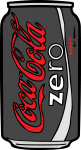 Coke Zero freehand drawings