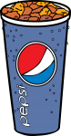 Pepsi Glass freehand drawings