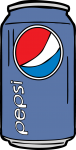 Pepsi Can freehand drawings