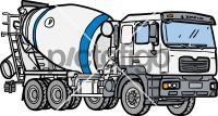 Cement MixerFreehand Image