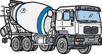 Cement Mixer freehand drawings