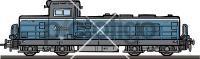 Diesel LocomotiveFreehand Image