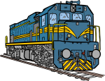 Diesel Locomotive freehand drawings