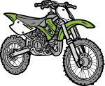 Dirt Bike freehand drawings