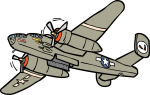 Dive Bomber freehand drawings