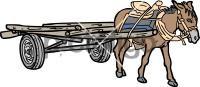 Donkey CartFreehand Image
