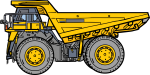 Dump truck freehand drawings
