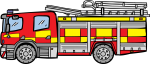 Fire Engine freehand drawings