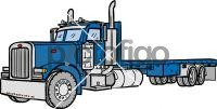 Flatbed TruckFreehand Image