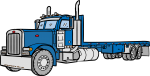Flatbed Truck freehand drawings