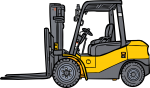 Forklift freehand drawings