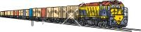 Freight TrainFreehand Image