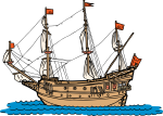 Galleon freehand drawings