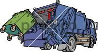Garbage TruckFreehand Image