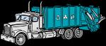 Garbage Truck freehand drawings