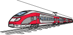 Electric Train freehand drawings