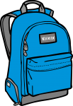 Backpacks freehand drawings