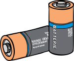 Batteries freehand drawings