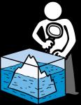 Iceberg freehand drawings