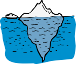 Iceberg freehand drawings