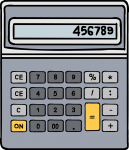 Calculators freehand drawings