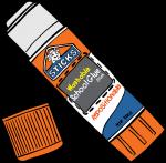Glue Sticks freehand drawings