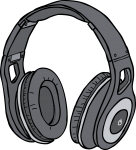 Headphones freehand drawings