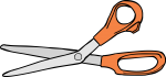 Scissors freehand drawings