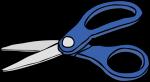 Scissors freehand drawings