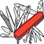 Swiss Knives freehand drawings