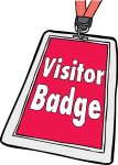 Visitor Badges freehand drawings