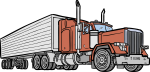 Eighteen Wheeler freehand drawings
