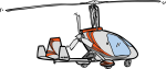 gyrocopter freehand drawings