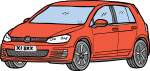 Hatchback freehand drawings
