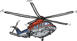 Helicopter freehand drawings