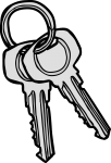 Keys freehand drawings