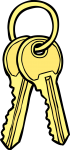 Keys freehand drawings