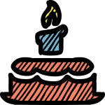 Birthday Cake freehand drawings