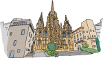 Barcelona freehand drawings
