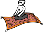 Magic Carpet freehand drawings